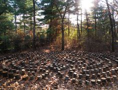 Labyrinths are walking paths that are used for meditation, reflection and prayer. Labyrinths create a sacred space that brings a feeling of well being to the walker and positive energy to the place. Chaplin's Way Labyrinth, Wellesley, Massachusetts. This classical labyrinth is constructed of logs cut from the trees removed when the site was cleared. The paths are covered with fallen leaves from the surrounding trees. Over the years as the logs decay, the walls and path will become more…