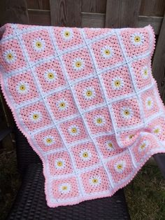 Babydeken (met link naar gratis patroon) / babyblanket (with link to free pattern)