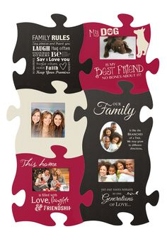 Celebrate your family ... no matter how it pieces together.  Our wide selection of Puzzle Picture Frames gives you endless options.