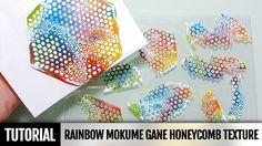 DIY 2IN1How to make Rainbow Mokume Gane technique using a round Honeycom...