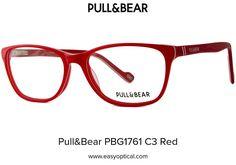 Pull&Bear PBG1761 C3 Red Eyewear, Bear, Eyeglasses, Bears, Sunglasses, Eye Glasses, Glasses