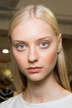 The Vibe: Matte and bronzed  Get the Look: Makeup ArtistCassandra Garcia gave the models at Tibi a warm glow by applying a heavy touch of bronzer to the cheeks.