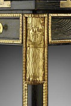 Josef Hoffmann & Carl Otto Czeschka - Games Table detail of gilded leg