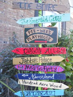 My fantasy direction sign I made for my yard. It's for others really, my imagination can take me anywhere anytime ; )