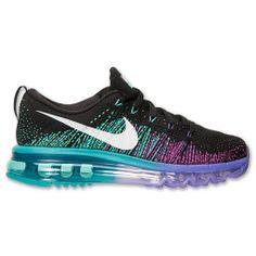 86522ab11eba Women s Nike Air Max Flyknit Black White Purple Venom Tribe Green