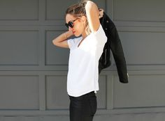 How To: Layered V-Neck T-Shirt | Contour Affair