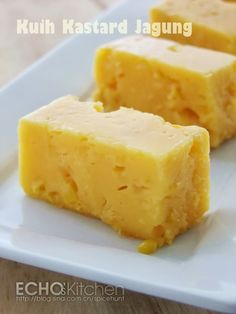 Kuih Kastard Jagung (Corn Custard)