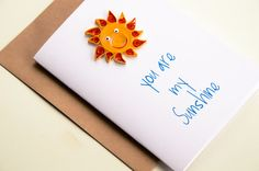 Anniversary Card  For Him  You are my Sunshine by ofthingspretty, $6.50