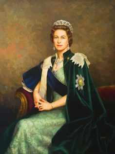 Queen Elizabeth II Portrait - Oil On Canvas Art Print by Don Kuing. All prints are professionally printed, packaged, and shipped within 3 - 4 business days. Choose from multiple sizes and hundreds of frame and mat options. Royal Queen, King Queen, Queen Liz, Papua Nova Guiné, God Save The Queen, Trinidad E Tobago, Princesa Elizabeth, Queen's Sister, Prinz Philip