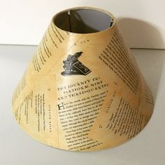 Harry Potter Lamp Shade J. K. Rowling Book page by SunshineSings