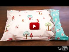 Kimberly's Simple Pillow Case : Riley Blake Designs' Video: Kimberly's Pill. : Kimberly's Simple Pillow Case : Riley Blake Designs' Video: Kimberly's Pillow Case Tutorial Sewing Pillow Cases, Sewing Pillows, Pillow Cases For Kids, Diy Pillow Cases, Small Pillow Cases, Easy Sewing Projects, Sewing Tutorials, Sewing Crafts, Sewing Patterns
