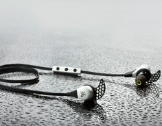 The Bluebud X Bluetooth earbuds from Jaybird Headphones include Liquipel to make them super sweat-proof.
