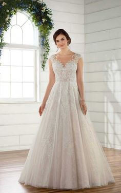 D2347 Vintage A-Line Wedding Gown by Essense of Australia