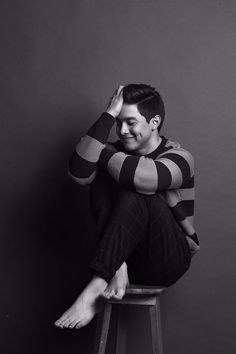 Alden Richards graces cover of Garage Magazine December 2015 Alden Richards, Barefoot Men, Sore Eyes, Embedded Image Permalink, Garage, It Cast, Handsome, Actors, My Love