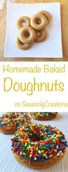 Homemade Baked Doughnuts (or donuts! Bake these for breakfast or brunch and you're home will smell like a donut shop! Click through for the full recipe Homemade Baked Donuts, Baked Doughnut Recipes, Baked Doughnuts, Doughnut Recipe For Doughnut Pan, Cake Donut Recipe Baked, Homemade Doughnut Recipe, Brunch, Cake Pops, Just Desserts