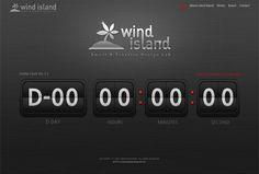 WIND ISLAND 디데이 사이트 디자인