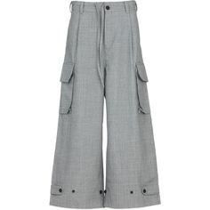 Leg Cuffs, Print Logo, Cargo Pants, Front Button, Wool Blend, Flannel, Wide Leg, Pajama Pants, Legs