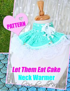 Crochet Neck Warmer Pattern and Tutorial by Mademoiselle Mermaid. Easy or beginner crochet diy project.