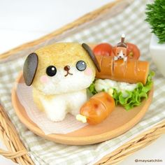 Puppy bento by maysatch