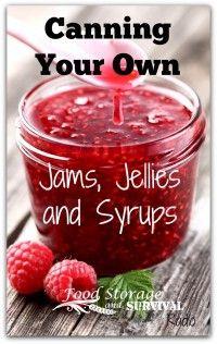 Raspberry jam http://radio.thesurvivalmom.com/food-storage-survival-canning-jams-jellies-syrups/