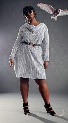 Plus Size Draped Ollie Dress from JIBRI - $180