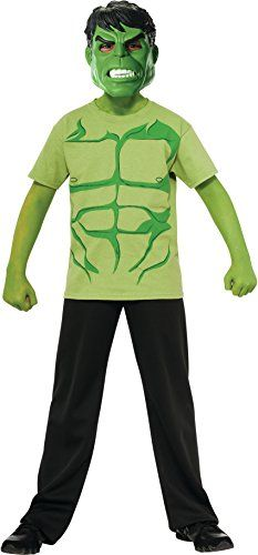 Marvel Avengers Assemble Incredible Hulk Costume TShirt with Mask Large * BEST VALUE BUY on Amazon