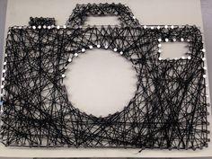 Camera string art made by Lauren