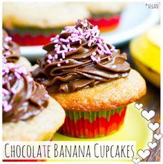 Chocolate Frosted Banana Cupcakes (vegan)