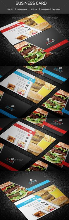 Simple Restaurant Business Card Template PSD #design Download: http://graphicriver.net/item/simple-restaurant-business-card/13992218?ref=ksioks