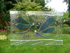 Fused Glass Dragonfly Suncatcher