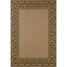 """Art Carpet Plymouth Green/Beige Indoor/Outdoor Area Rug Rug Size: 7'10"""" x 10'6"""""""