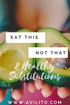 I believe we all have that problem sometimes when it comes to making the best food decision. The HEALTHY decision. Well I wanted to give you 8 healthy substitutions to try in your journey to a better YOU! Healthy Foods To Eat, Healthy Cooking, Get Healthy, Healthy Eating, Healthy Recipes, Clean Eating, Healthy Lunches, Healthy Lifestyle Tips, Healthy Living Tips