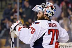 BOSTON, MA - JANUARY 05: Braden Holtby #70 of the Washington Capitals looks on during the first period at TD Garden on January 5, 2016 in Boston, Massachusetts. (Photo by Maddie Meyer/Getty Images)