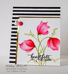 Periwinkle Creations: Using stamp & stencil duo