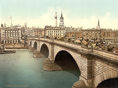 st magnus-martyr, london bridge, middlesex, england | london bridge in the 1890 s london bridge london crystal palace ...