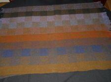 AVOCA HANDWEAVERS vintage 100% virgin wool multi color plaid blanket IRELAND
