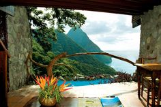 Where we stayed on our honeymoon.  The Ladera in St. Lucia.