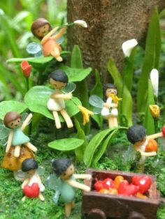 micro fairies in the forest