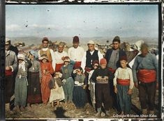 Albert Kahn autochrome, pre WWI. This group is evidently from Greece or northwestern Turkey. Amazing archive.