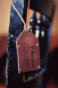 Custom Leather Luggage Tag Groomsman Gift