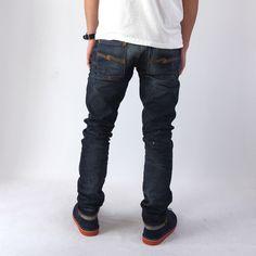 【楽天市場】【Safari Leon SENSE掲載ブランド】【送料・代引き料無料】Nudie Jeans(ヌーディージーンズ)/GRIM TIM(グリムティム)【ORG.BOB REPLICA】(37161-1320):HELLOS
