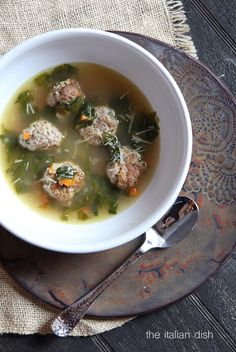 Meatball and Escarole Soup (a.k.a. Italian Wedding Soup)