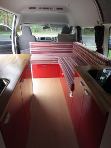 cool van conversion- my van has lots of windows like this