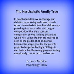 The Narcissistic Family Tree. In healthy families, we encourage our children to . - The Narcissistic Family Tree. In healthy families, we encourage our children to be loving and close - Narcissistic People, Narcissistic Behavior, Narcissistic Sociopath, Narcissistic Sister, Daughters Of Narcissistic Mothers, Narcissistic Children, Narcissistic Personality Disorder Mother, Affirmations, Just In Case