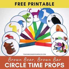 Bears Preschool, Preschool Books, Preschool Learning Activities, Toddler Learning, Book Activities, Preschool Activities, Brown Bear Activities, Preschool Classroom, Teaching Ideas