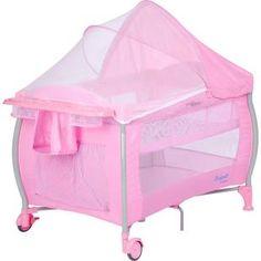 Berço Dobrável Portátil Burigotto Nanna Pink Check.    Acompanha bolsa para transporte.    Fácil de montar e desmontar, excelente para viagen.