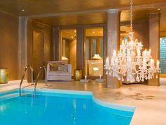 Unique Combination :: Elegant Chandelier with a Pool.