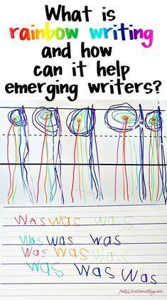 What is Rainbow Writing and How Does It Help Emerging Writers? - repinned by @PediaStaff – Please Visit ht.ly/63sNt for all our ped therapy, school & special ed pins