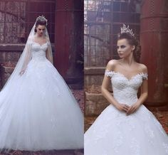 Vestido De Noiva Off The Shoulder Vintage Lace Wedding Dresses 2016 Tulle Ball Gown Said Mhamad Princess Bridal Gowns Robe De Mariage Cheap Ball Gowns Wedding Dresses Couture Ball Gown Wedding Dresses From Angelia0223, $244.19| Dhgate.Com