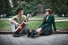 """Daria... do you ever feel like maybe you ARE wasting your life?"" ""...Only when I'm awake."" Daria + Trent cosplay by *FaultyFrame on deviantART"